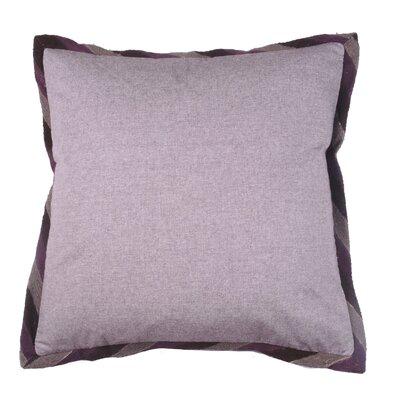 Crewel Border 100% Cotton Throw Pillow Color: Fig