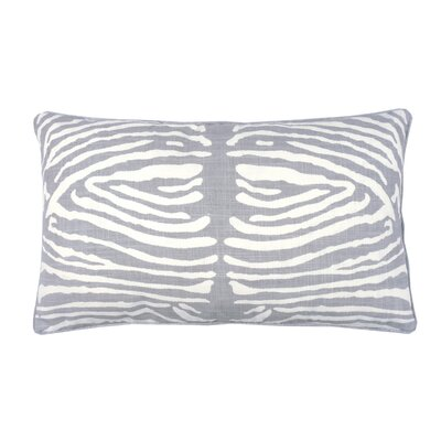 Zebra Double Sided Block Print Lumbar Pillow Color: Stone