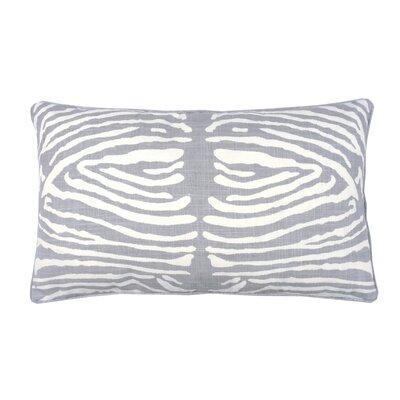 Zebra Double Sided Block Print Lumbar Pillow Color: Stone