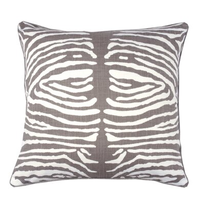 Zebra Double Sided Block Print Throw Pillow Color: Morel