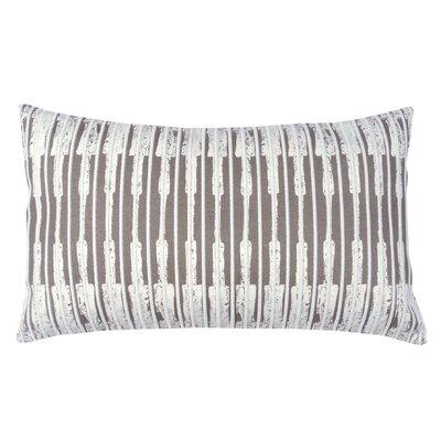 Ikat Stripe 100% Cotton Lumbar Pillow Color: Morel