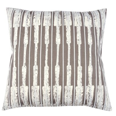 Ikat Stripe 100% Cotton Throw Pillow Color: Morel