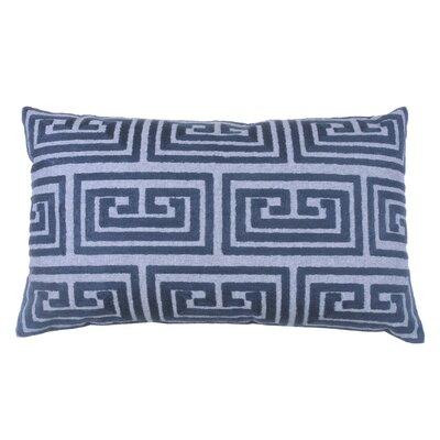 Greek Key Oversized 100% Cotton Blend Lumbar Pillow Color: Peacock