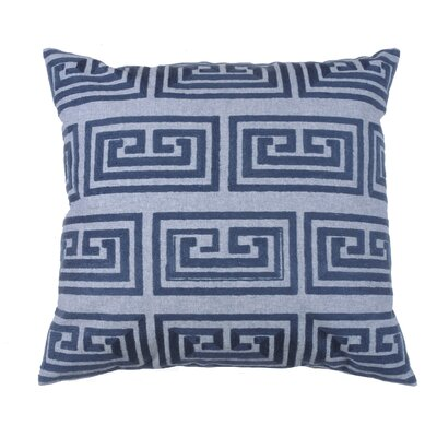 Greek Key Oversized 100% Cotton Throw Pillow Color: Peacock