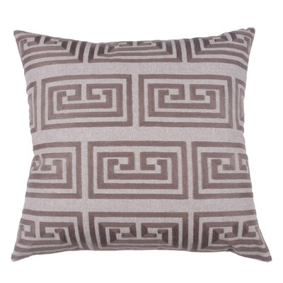 Greek Key Oversized 100% Cotton Throw Pillow Color: Morel