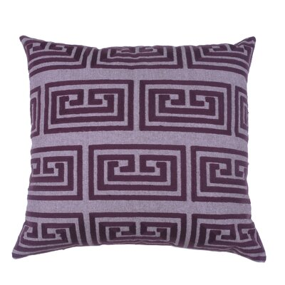 Greek Key Oversized 100% Cotton Throw Pillow Color: Fig