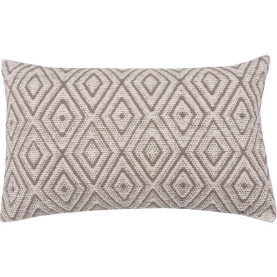 Tangier 100% Cotton Lumbar Pillow Color: Morel/Stone