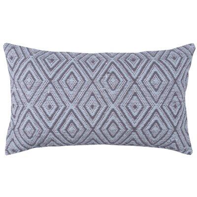 Tangier 100% Cotton Lumbar Pillow Color: Pewter/Stone