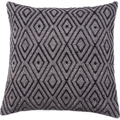 Tangier 100% Cotton Throw Pillow Color: Navy/Gray