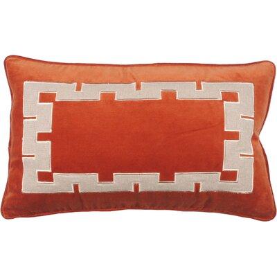 Aegean Key Lumbar Pillow Color: Burnt Orange