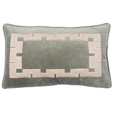 Aegean Key Lumbar Pillow Color: Gray Green