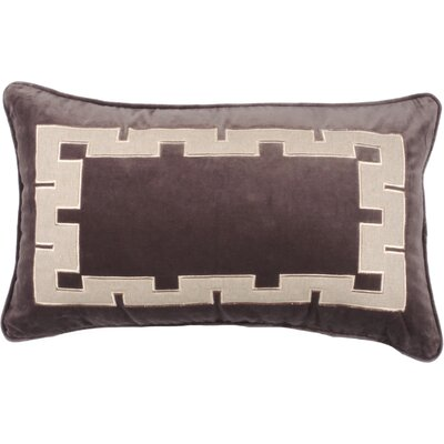 Aegean Key Lumbar Pillow Color: Morel
