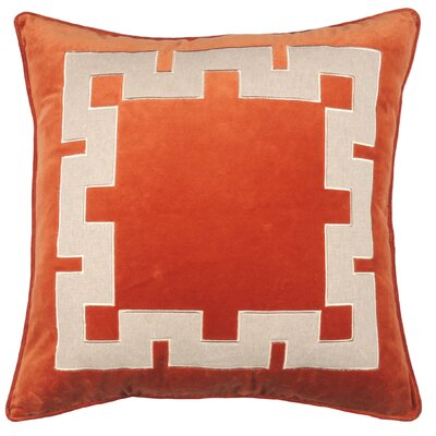 Aegean Key Throw Pillow Color: Burnt Orange