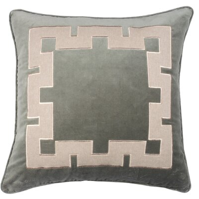 Aegean Key Throw Pillow Color: Gray Green