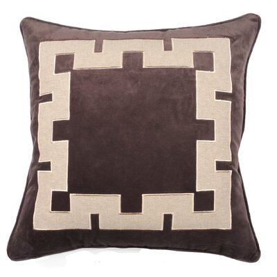Aegean Key Throw Pillow Color: Morel
