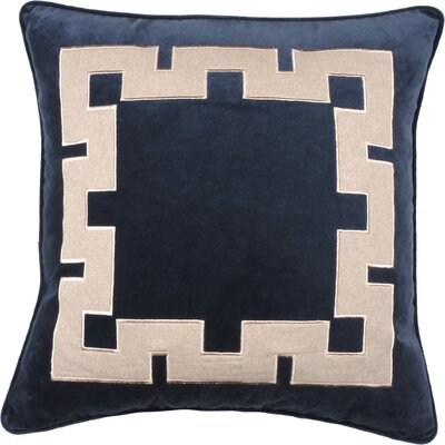 Aegean Key Throw Pillow Color: Peacock
