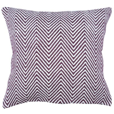 Herringbone 100% Cotton Throw Pillow Color: Fig/Ivory