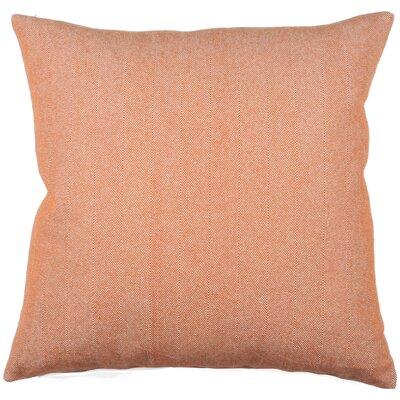 Twill Stripe 100% Cotton Throw Pillow Color: Orange/Ivory
