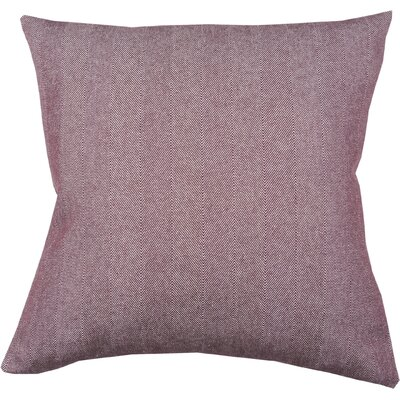 Twill Stripe 100% Cotton Throw Pillow Color: Fig/Ivory