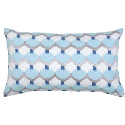 Dot Ikat Cotton Lumbar Pillow