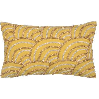 Scallop Cotton Lumbar Pillow Color: Citron