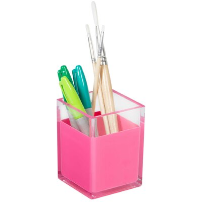 Desk Organizer Pencil Cup Color: Pink HC-9889123