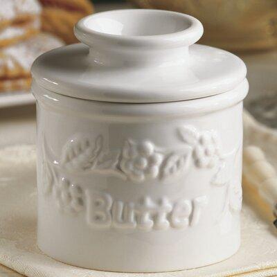 Raised Floral 0.12 qt. Butter Crock