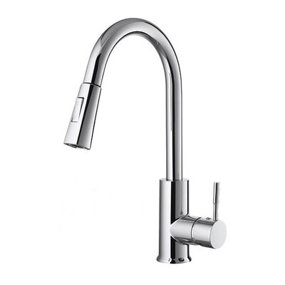 Yangtze Single Handle Deck Mounted Kitchen Faucet Finish: Stainless Steel