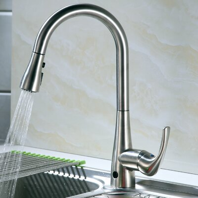 Nile Single Handle Deck Mounted Kitchen Faucet with Motion Sensor Finish: Stainless Steel