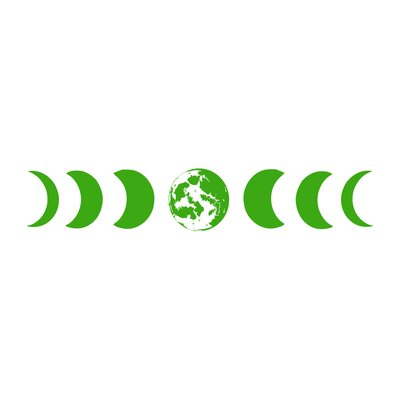 Moon Phases Wall Decal Color: Lime Tree Green s81lime tree green