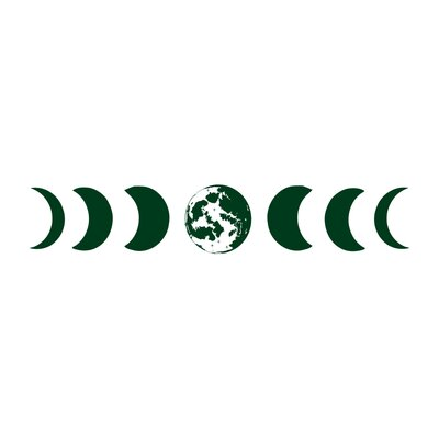 Moon Phases Wall Decal Color: Green s81green