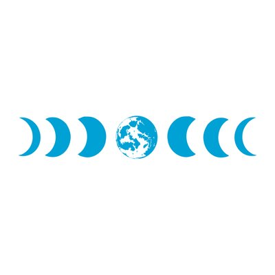 Moon Phases Wall Decal Color: Ice Blue s81ice blue