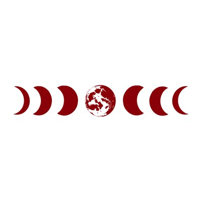 Moon Phases Wall Decal Color: Purple/Red s81purple red
