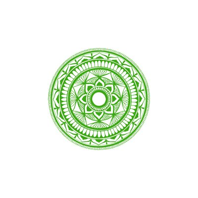Natazhat Mandala Pattern Yoga Wall Decal BGRS3439 43421443