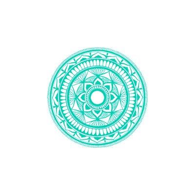 Natazhat Mandala Pattern Yoga Wall Decal Color: Mint