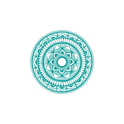 Natazhat Mandala Pattern Yoga Wall Decal Color: Turquoise