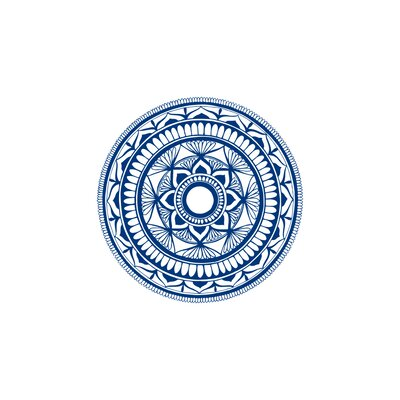Natazhat Mandala Pattern Yoga Wall Decal Color: Blue