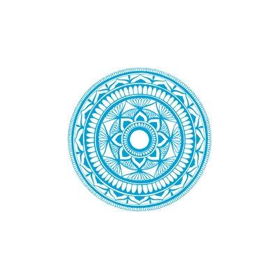 Natazhat Mandala Pattern Yoga Wall Decal Color: Ice Blue