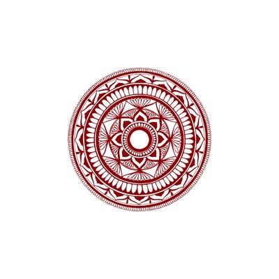 Natazhat Mandala Pattern Yoga Wall Decal Color: Purple Red