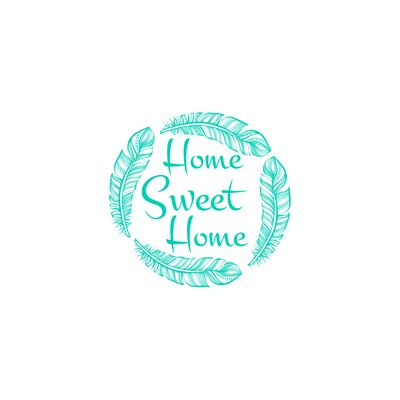 Wendy Home Sweet Home Wall Decal Color: Mint