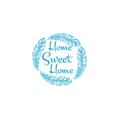 Wendy Home Sweet Home Wall Decal Color: Ice Blue