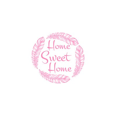 Wendy Home Sweet Home Wall Decal Color: Soft Pink