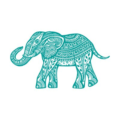 Kater Elephant Animal Wall Decal Color: Turquoise