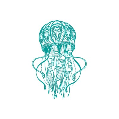 Manila Jellyfish Bathroom Wall Decal Color: Turquoise