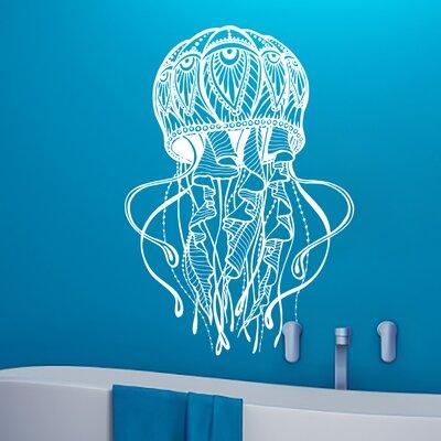 Manila Jellyfish Bathroom Wall Decal Color: White