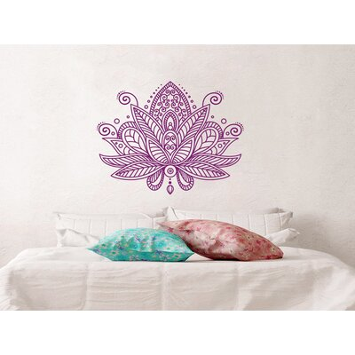 Estrella Lotus Flower Mandala Wall Decal Color: Violet