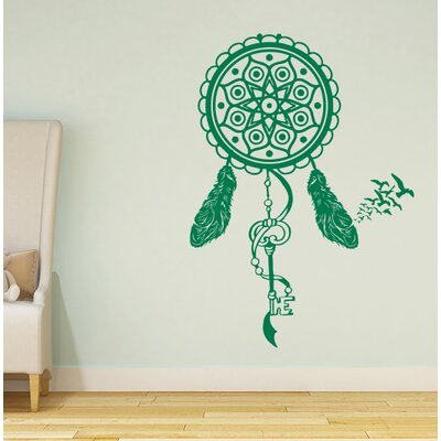 Steinber Dream Catcher Wall Decal Color: Green