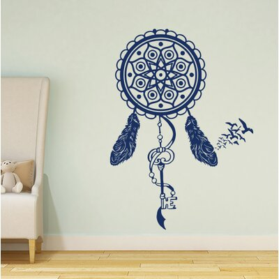 Steinber Dream Catcher Wall Decal Color: Navy Blue