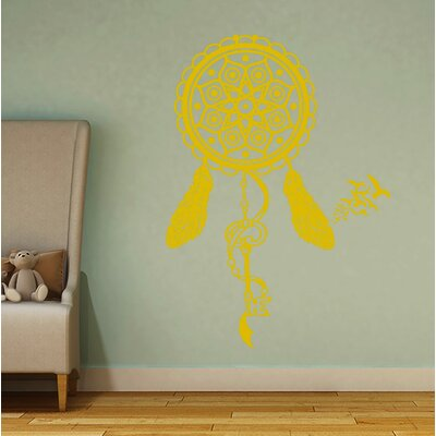 Steinber Dream Catcher Wall Decal Color: Yellow