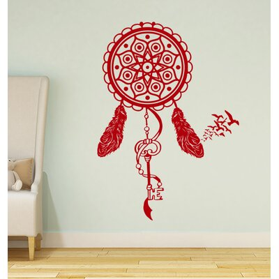 Steinber Dream Catcher Wall Decal Color: Red